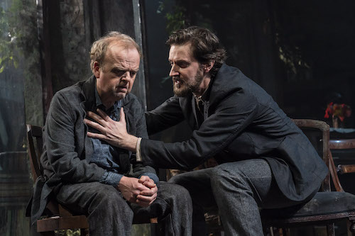 """Two male actors on stage in """"Uncle Yanya"""""""