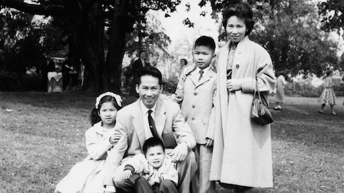 Amy Tan and family.