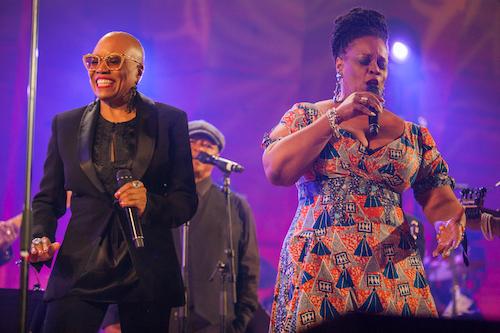 Renowned jazz vocalists Dee Dee Bridgewater and Dianne Reeves performing