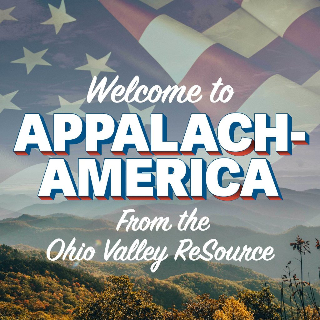 A logo for the Welcome to Appalach-America podcast