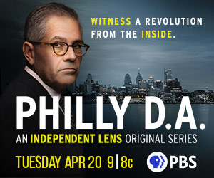 """Tune in ad for """"Philly D.A."""" Tuesday, April 20"""