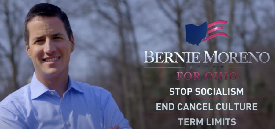 A campaign ad for Bernie Moreno