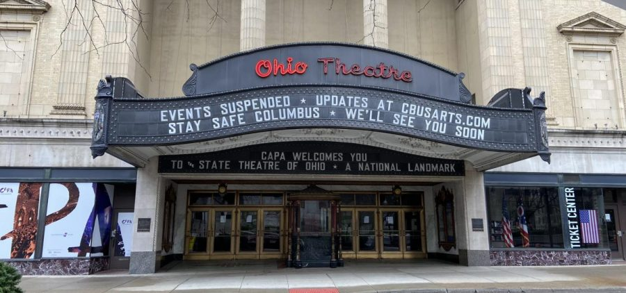 The Ohio Theatre, one of several operated by CAPA, was shuttered in March 2020, along with performance spaces and venues throughout Ohio and the US.