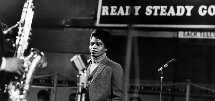 """James Brown in 1966 on """"Ready Steady Go!,"""" one of the UK's first rock and pop music TV shows."""