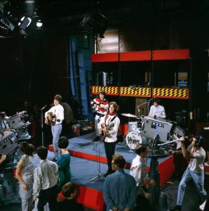 """The Kinks performing on """"Ready Steady Go!,"""" one of the UK's first rock and pop music TV shows."""