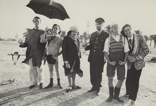 Monty Python on location in Monastir, Tunisia, where they filmed Life of Brian. 1978.