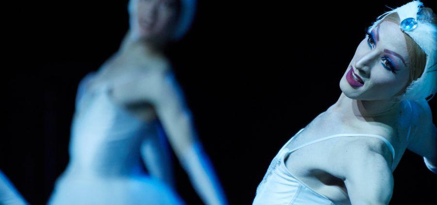 "Male ballerina Dancer Kevin Garcia in ""Swan Lake."""