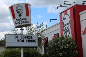 The KFC in Athens is just one on many business looking for employees.