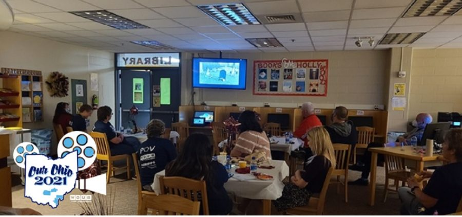 Students presenting films at Meigs High School