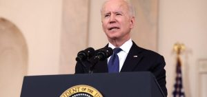 President Biden has offered to lower his infrastructure and jobs spending proposal by $550 billion.