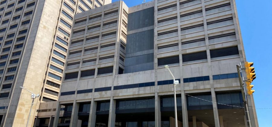 The Justice Center in Cleveland, the complex which houses the Cuyahoga County jail.