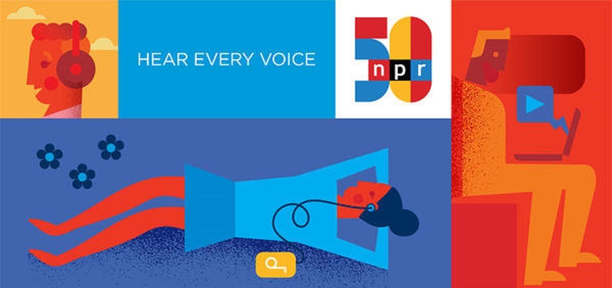NPR 50th logo