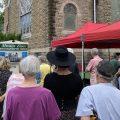 People around Mt. Zion Baptist Church