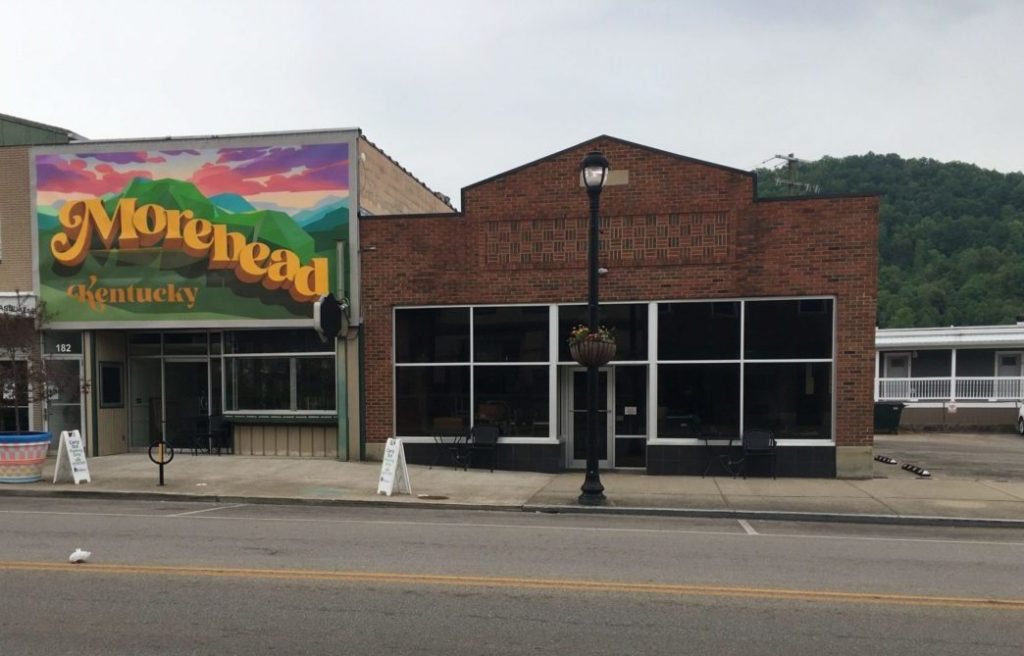 A mural paid for by the city of Morehead as a part of its downtown revitalization plan.