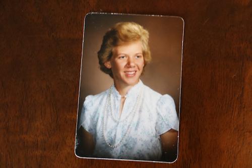 1970s High school yearbook photo of woman