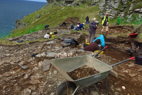 Archeologists in action at site