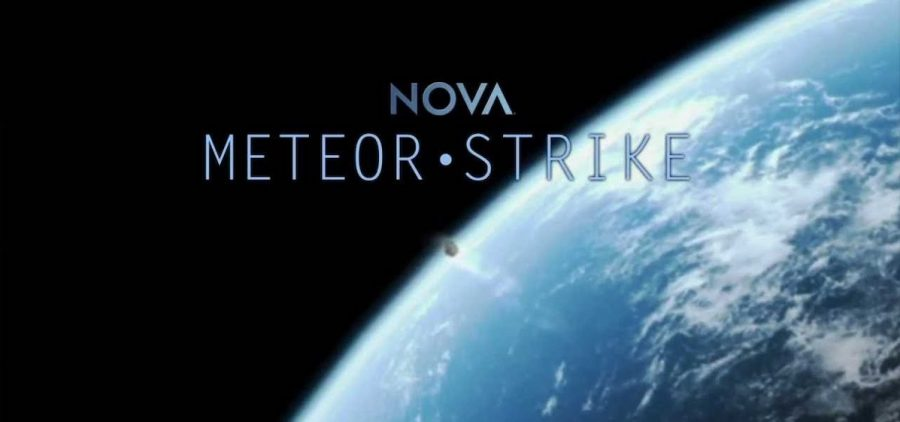 meteor as shiown from space heading towards earth
