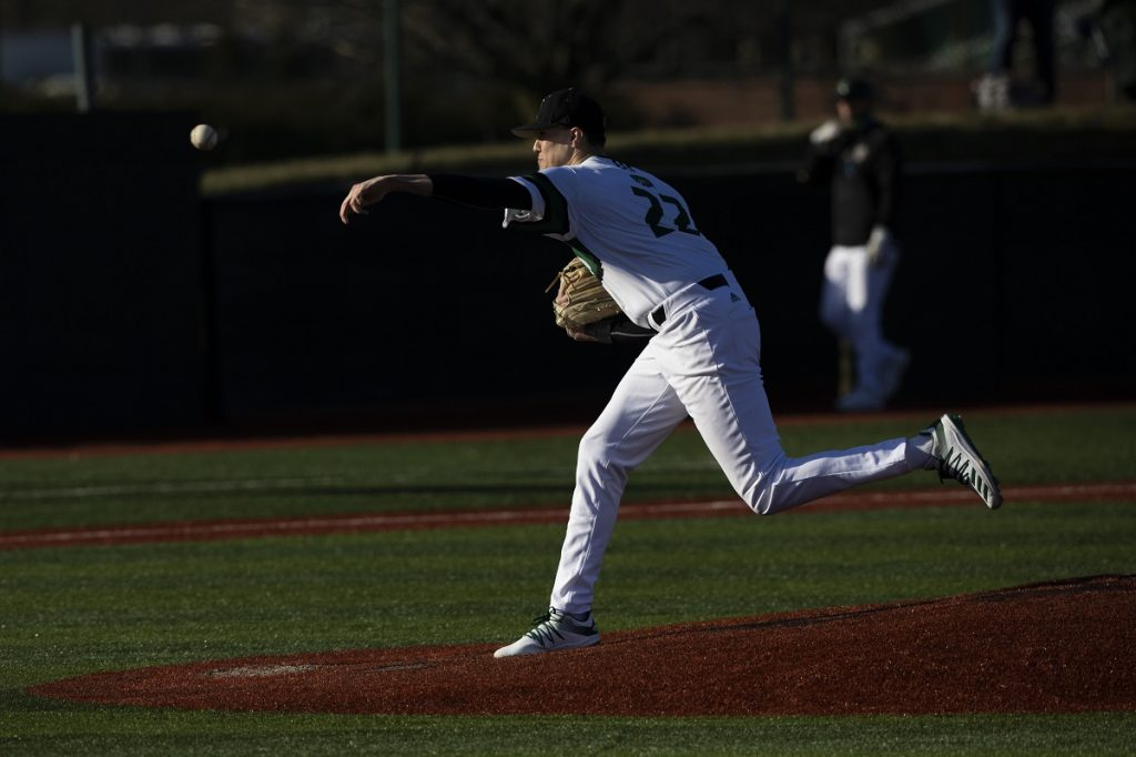 Joe Rock delivers a pitch for the Bobcats