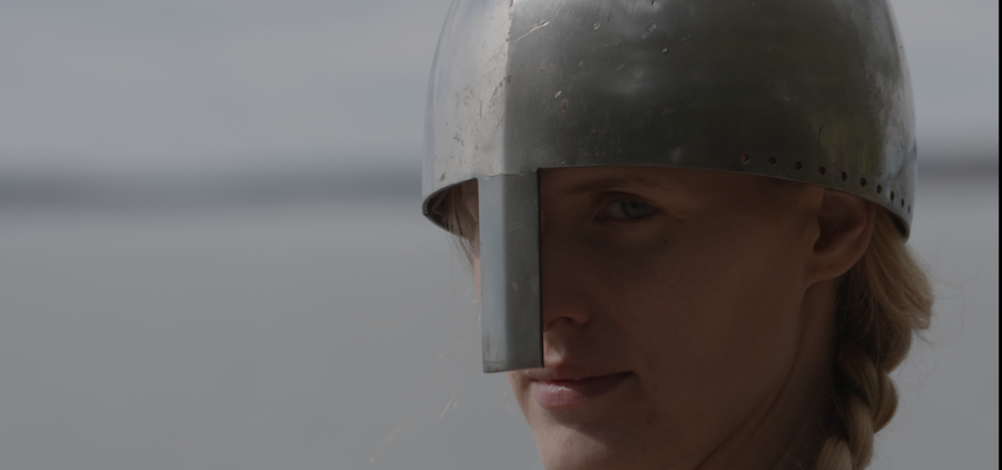 Rendering female Warrior during the Viking age