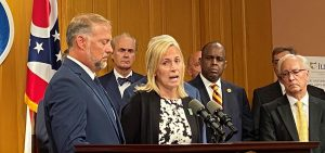 Cory and Shari Foltz, parents of Stone Foltz, a BGSU student who died as a result of hazing, July 26, 2021