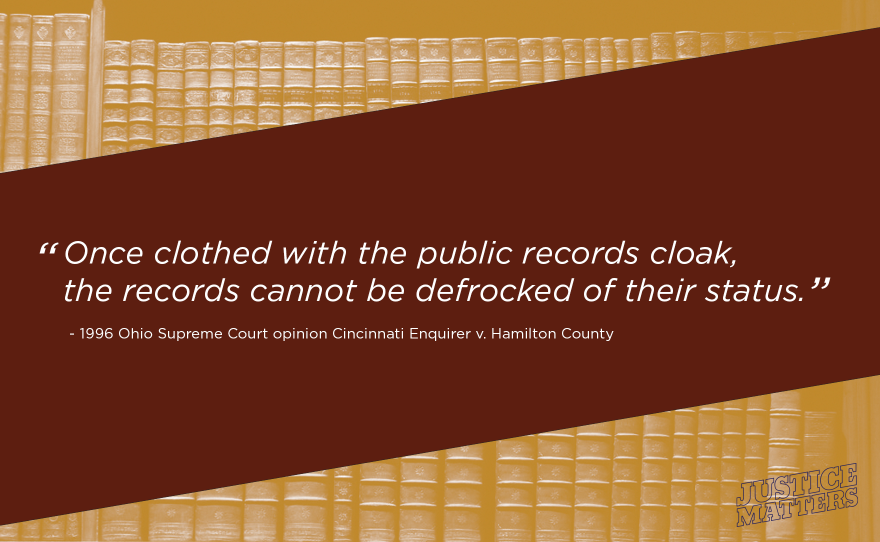 From a case challenging the withholding of 911 call tapes by a prosecutor's office, who claimed the tapes were evidence in an open murder case and not covered by public records law - ORC 149.43 – once the tapes were turned over to the prosecutor's office.