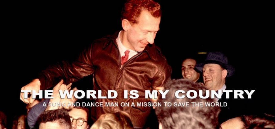 1960s iamge of crowd carrying man on shoulders