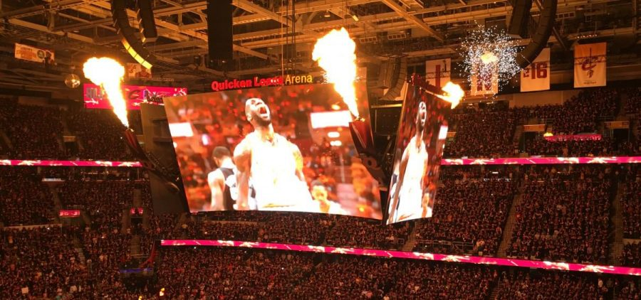 Quicken Loans Arena, now Rocket Mortgage FieldHouse, during 2016 NBA Finals