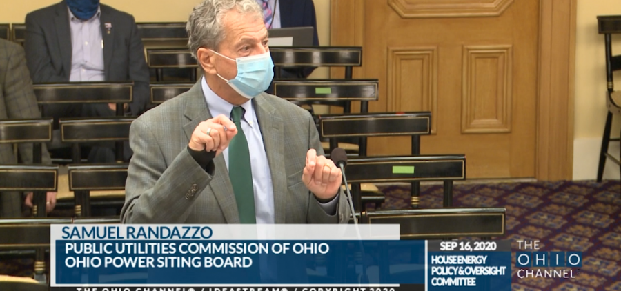 Sam Randazzo, now-former PUCO chair, testifies in the House Select Committee on Energy Policy and Oversight