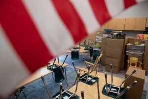 A classroom is seen at the new East Elementary School, in Athens, Ohio, on Tuesday, Aug. 10, 2021. [Joseph Scheller | WOUB]