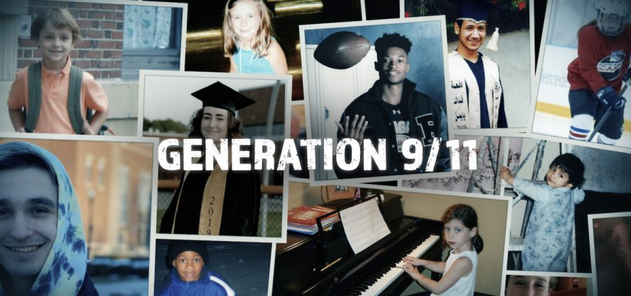 """montage of kids and youth behind title """"generation 9/11"""""""