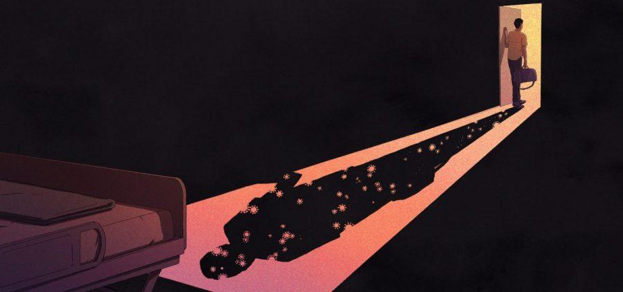 A cartoon shadow casts across a room