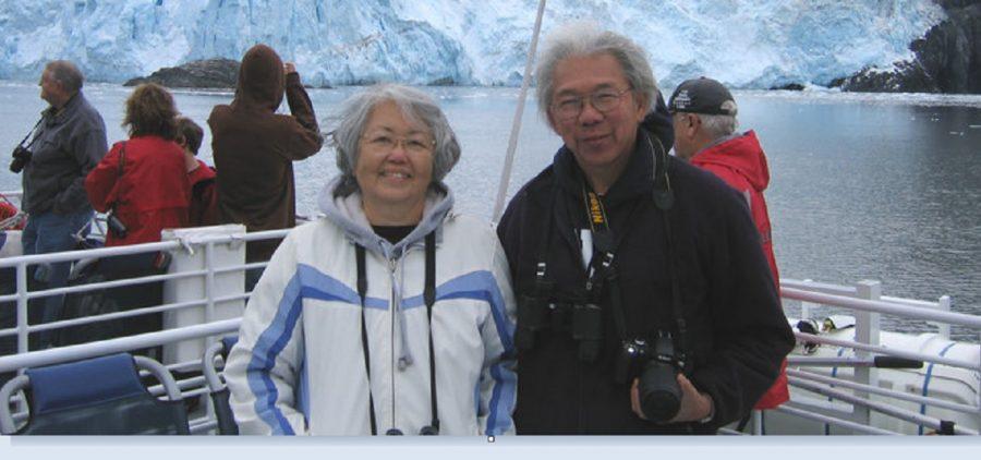 Bob and Gerry Hikida on boat
