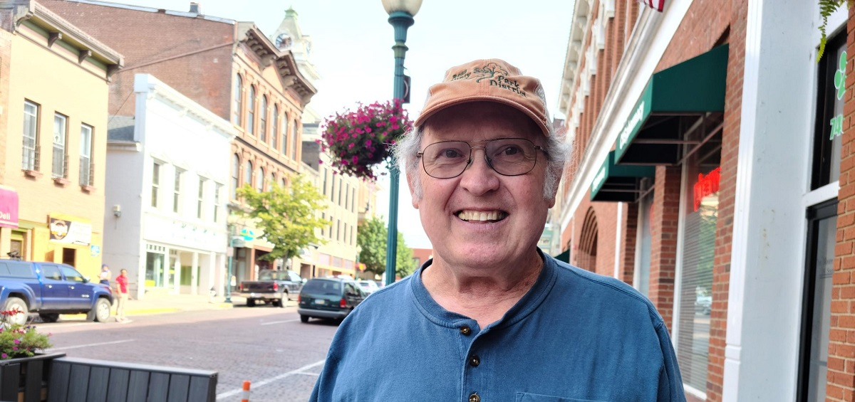 Bob Scott Placier on Court Street in Athens