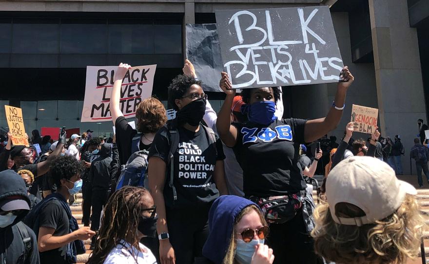 Black Lives Matter protest in Cleveland
