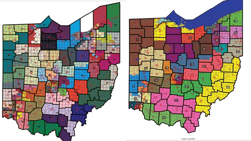 District maps, drawn by the House and Senate majority caucuses, were adopted by the Ohio Redistricting Commission.