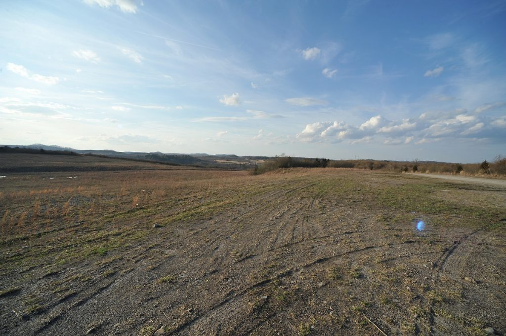 ATV trails on the Martiki mine site.