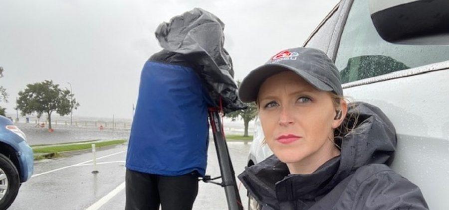 Morgan Lentes Covering Hurricane Ida