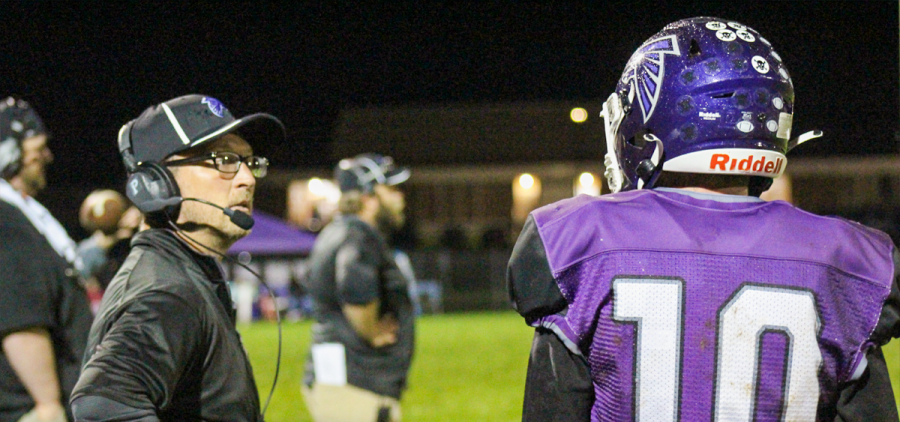 Miller coach looks at a player