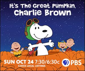 Snoopy, Charlie Brown, Linus & Sally in pumpkin patch
