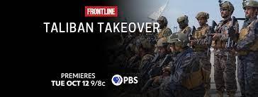 """facebook banner for """"Taliban Takeover"""" episode of Frontline"""