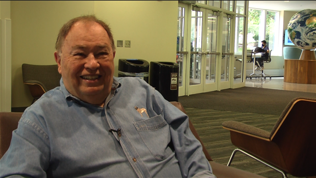 David Newell sitting in a chair
